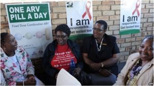 Posters & T shirts provide education about HIV and TB in South Africa